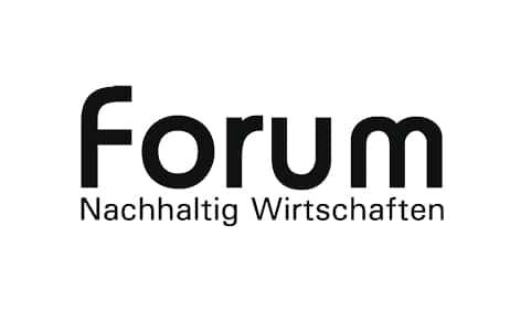 Logo: Forum nachhaltig Wirtschaften – Magazin. Kunde von William Veder | Eventfotografie in Berlin