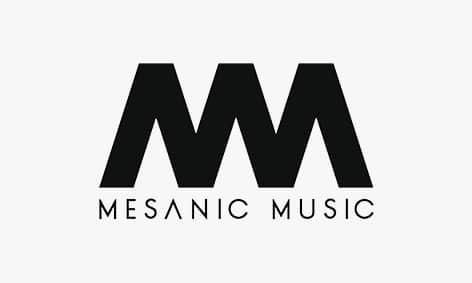 Logo: Mesanic Music, Musik Label.